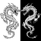 Dragon,Tattoo,Vector,Ilustration,Black And White,East Asian Culture,Animal,Speculative Being,Fantasy,Macho,Furious,Claw,Displeased,Anger,Animal Scale,Posing,Attitude,Aggression,Toughness,Animals And Pets,Vector Cartoons,Fang,Pen And Ink,Illustrations And Vector Art,Tattoo Art,Confrontation
