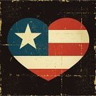 American Flag,Heart Shape,USA,Flag,Craft Product,Distressed,Old,Old-fashioned,Star Shape,Grunge,Vector,Red,Symbol,Illustrations And Vector Art,Vector Backgrounds,Design Element,Objects/Equipment,Blue,No People,Ilustration,White,Damaged