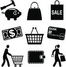 Symbol,Shopping,Shopping Basket,Computer Icon,Customer,Purse,Wallet,Women,Black Color,Retail,Icon Set,Currency,Shopping Cart,Consumerism,Sale,Men,Vector,Black And White,Savings,Set,Series,Shopping Bag,Stencil,Credit Card,Piggy Bank,One Dollar Bill,Empty,Commercial Activity,US Paper Currency,Clip Art,Shopping Icons,Design Element,Illustrations And Vector Art,Carrying,Dollar Bill Icon,Ilustration,People,Shopping Icon,Business,Icon Series,Vector Icons