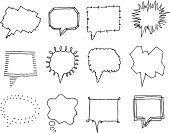 Speech Bubble,Speech,Thought Bubble,Comic Book,Cartoon,Communication,Humor,Drawing - Art Product,Sketch,Icon Set,Sound,Talk,Talking,Discussion,Whispering,Group of Objects,Individuality,Vector,Pencil Drawing,Illustrations And Vector Art,Copy Space,Vector Icons,Screaming,Ilustration,Communication,Shouting,Set,Vector Ornaments,Variation,Concepts And Ideas