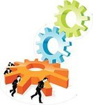 Action,Gear,Business,Teamwork,Strength,Cooperation,Motion,Pushing,Men,Three-dimensional Shape,Turning,Physical Activity,Green Color,Concepts,Machine Part,Twisted,Blue,Ilustration,Vector,Actions,Orange Color,Isolated Objects,isolated object,Business Abstract,Male,Business