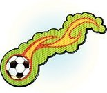 Soccer Ball,Ball,Soccer,Sports Equipment,Flame,Leisure Activity,Sports And Fitness,Team Sports,Sports Symbols/Metaphors,Illustrations And Vector Art,Vector,Ilustration,Sport,summer sport
