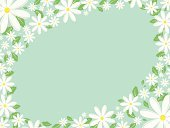 Daisy,Backgrounds,Flower Bed,Flower,Ilustration,Floral Pattern,Image,Nature,Digitally Generated Image,Nature,Petal,Season,Summer,Leaf,Retro Revival,Illustrations And Vector Art,Flowers,Springtime,1940-1980 Retro-Styled Imagery,Painted Image,Vector,Abstract
