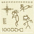 North American Tribal Culture,Cave Painting,Symbol,Ancient,Indigenous Culture,Sun,Hieroglyphics,Kokopelli,Pattern,Carving - Craft Product,Cultures,Music,Vector,Design,The Past,Art,Flute,Deer,Illustrations And Vector Art,Star Shape,Vector Icons,Ilustration,Painted Image,Color Image,Dancing