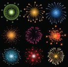 Firework Display,Pyrotechnics,Celebration,Vector,Backgrounds,Traditional Festival,Party - Social Event,Bright,Collection,Star Shape,Variation,Illuminated,Night,Holiday,Ilustration,Black Color,Sky,Multi Colored,Color Image,Vector Backgrounds,Illustrations And Vector Art,Set,Event,Entertainment