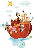 Ark,Animal,Cartoon,Nautical Vessel,Clip Art,Cute,Animal Themes,Giraffe,Sea,Fairy Tale,Insect,Bird,Butterfly - Insect,Ilustration,Vector,Window,Picture Book,Pets,Elephant,Fantasy,Set,Collection,Old Testament,Wildlife,Painted Image,Fish,Fun,Farm Animals,Wild Animals,Animals And Pets,Nature,Sea Life,Mammal