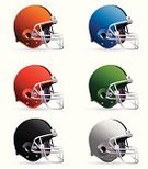 Football Helmet,American Football - Sport,Sports Helmet,Protection,Symbol,Sport,Computer Icon,Vector,Equipment,Set,Ilustration,Isolated Objects,Illustrations And Vector Art,Sports And Fitness