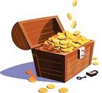 Treasure,Box - Container,Coin,Gold Colored,Gold,Abundance,Symbol,Wealth,Currency,Currency Symbol,Business Concepts,Business,gold coin,Treasure Box