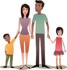 Family,Latin American and Hispanic Ethnicity,Family with Two Children,Holding Hands,Unity,Offspring,Child,People,Daughter,Son,Togetherness
