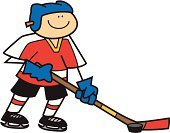 Ice Hockey,Stick Figure,Ice-skating,Sport,Team,Playing,Hockey Puck,Ilustration,Padding,Dribbling,Hockey Stick,Vector,Competitive Sport,Isolated On White,Cheerful,Competition,Smiling