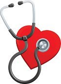 Stethoscope,Human Heart,Heart Shape,Cardiologist,Healthcare And Medicine,Symbol,Vector,Computer Icon,Clip Art,Illustrations And Vector Art,Heart Health,Red,Design Element