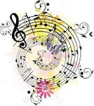 Musical Note,Music,Sheet Music,Musical Staff,Springtime,Musical Symbol,Treble Clef,Abstract,Backgrounds,Flower,Single Flower,Butterfly - Insect,Pink Color,Dirty,Swirl,Grunge,Floral Pattern,Decoration,Yellow,Beauty In Nature,Multi Colored,Blossom,Decor,Scroll Shape,Wave Pattern,Curled Up,Illustrations And Vector Art,Twig,Stained,Leaf,Curve,Composition,White Background,decorative ornament,Distressed,Scratched,Branch,Vector Backgrounds