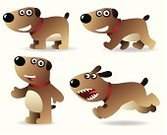 Dog,Cartoon,Smiling,Vector,Cute,Terrier,Smiley Face,Animals And Pets,Dogs,Animal,Cheerful,Pets,Happiness,Domestic Animals