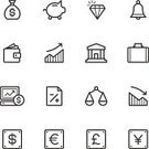 Diamond,Symbol,Computer Icon,Bank,Icon Set,Home Finances,Weight Scale,Piggy Bank,Wallet,Vector,Finance,Stock Market Data,Business,Bell,Sign,Slim,Negative Emotion,Money Bag,Single Line,Thin,Pound Symbol,Positive Emotion,Briefcase,Shiny,Euro Symbol,Chart,Yen Sign,Document,vector icon,Dollar Sign