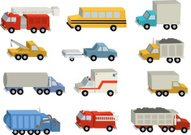Truck,Pick-up Truck,Transportation,Mode of Transport,Cartoon,Tow Truck,Child,Fire Engine,Dump Truck,Vector,Ambulance,Traffic,Working,Backgrounds,School Bus,Vector Cartoons,Vector Icons,Transportation,Illustrations And Vector Art