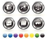 Law,Equal-arm Balance,Gavel,Symbol,Book,Justice - Concept,Computer Icon,Icon Set,Legal System,Built Structure,Red,Building Exterior,Briefcase,Human Hand,Courthouse,Silver Colored,Oath,Digitally Generated Image,Metal,White Background,Green Color,Circle,Orange Color,Elegance,Bible,Blue,Grid,Empty,Metallic,Blank