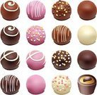 Chocolate,Candy,Gourmet,Valentine's Day - Holiday,Sweet Food,Dessert,Eating,Isolated,Variation,Tasting,Food,Collection,Group of Objects,Snack,Pink Color,Food And Drink,Illustrations And Vector Art,Food Backgrounds,Vector Backgrounds,Set,Close-up,Refreshment,Joy,Dark,Brown