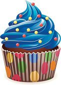 Cupcake,Birthday,Cake,Blue,Vector,Chocolate,Eating,Swirl,Cream,Single Object,Celebration,Backgrounds,Ilustration,Food,Image,Snack,Sweet Food,Vector Backgrounds,Food And Drink,Isolated,Illustrations And Vector Art,Cooking,Dessert,Gourmet,Baked,Sprinkles,Baking,Food Backgrounds
