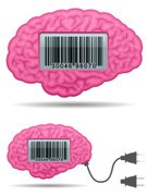 Human Brain,Bar Code,Cartoon,Electric Plug,People,Thinking,Electricity,Pink Color,Desk Toy,Human Internal Organ,Cable,Gray,Design Element,Shadow,Isolated,Vector Cartoons,Illustrations And Vector Art,Learning,Clip Art,Body,Electronics,Technology,Visual Screen,Anatomy,Intelligence,Ilustration,Computer Graphic