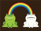 Happiness,Smiling,Responsibility,Rainbow,Partnership,Frog,Multi Colored,Charity and Relief Work,Humor,Exchanging,Sharing,Bonding,Friendship,Camouflage,Using Senses,Animals And Pets,Frustration,Communication,Amphibians,Concepts And Ideas,Paint,Color Image,Unity,Assistance,Sadness