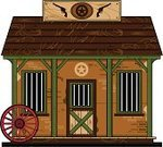 Wild West,Roof,Prison,Door,Built Structure,Vector,Building Exterior,History,Window,Handgun,Spoke,Gun,Wheel,Illustrations And Vector Art,Architecture And Buildings,Vector Cartoons,Isolated,Sign,Ilustration,The Past,Star Shape,Weapon