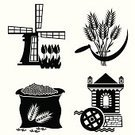 Watermill,Wheat,Flour,Wholegrain,Bag,Water,Symbol,Wind Turbine,Wheel,Traditional Windmill,Obsolete,Agriculture,Sickle,Food Processing Plant,Food,Icon Set,Silhouette,Rural Scene,Vector,Grinder,Indigenous Culture,Cultures,Agriculture,Industry,Objects/Equipment,Image,Turning,Illustrations And Vector Art,Vector Icons,Single Object,Wind,Tower