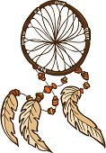 Dreamcatcher,North American Tribal Culture,Sketch,Symbol,Drawing - Art Product,Feather,Ilustration,Isolated,Illustrations And Vector Art,Vector Ornaments,Brown,Vector,Computer Graphic,White,Orange Color