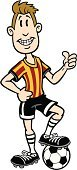 Cartoon,Soccer,Men,Sport,Soccer Ball,Humor,Ball,Male,People,Pride,Thumbs Up