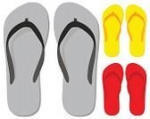Flip-flop,Sandal,Shoe,Slipper,Beach,Vector,Red,Summer,Gray,Casual Clothing,Rubber,Pair,Yellow,Isolated,Lifestyle,Modern Life,Vector Icons,Illustrations And Vector Art,Isolated On White,Ilustration,White,Set,Concepts And Ideas