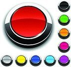 Push Button,Backgrounds,Blank,Chrome,Interface Icons,Red,Internet,Pushing,Purple,Metallic,Black Color,Orange Color,Blue,Curve,Yellow,Shadow,Illustrations And Vector Art,Magenta,No People,Reflection,Shiny,Computer Icon,Pattern,Design,Green Color,Focus on Shadow,Vector Icons,Circle,Vector,Vector Backgrounds,Empty