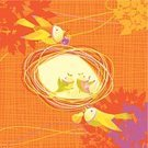 Thanksgiving,Family,Autumn,Animal Nest,Bird,Tree,Harvesting,Crop,Vector,Silhouette,Gift,Ilustration,Love,Retro Revival,Pear,Leaf,Greeting Card,Greeting,Flying,Nature,Summer,Striped,Decoration,Invitation,Bush,Young Bird,Copy Space,Holiday,Cherry,Care