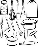Kitchen Utensil,Cooking Pan,Wire Whisk,Symbol,Cooking,Spatula,Vector,Cutting Board,Meat Cleaver,Food,Corkscrew,Spoon,Potato Masher,Equipment,Skillet - Cooking Pan,Domestic Life,Grater,Group of Objects,Crockery,Fork,Blender,Preparing Food,Set,Mixing,Personal Accessory,Outline,Isolated,Steel,Kitchen Knife,Dinner,Plunger,Wait Staff,Shape,Sharp,Soup Ladle,Food And Drink,Serrated,Household Objects/Equipment,Metal,Handle,Objects/Equipment,Kitchen Equipment