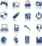 Camera - Photographic Equipment,Symbol,Circuit Board,Sign,Computer Icon,Computer,Desk Toy,Telephone,USB Cable,Flash,Electrical Equipment,Blue,Vector,Icon Set,Hands-free Device,DVD,Set,Electronics Industry,Video Conference Camera,CD,Information Medium,Equipment,Mobile Phone,Computer Mouse,Push Button,Digitally Generated Image,Video Game,Ilustration,Technology,Interface Icons,Laptop,Computer Printer,Floppy Disk,Speaker,Microphone,Clip Art,standby,Headphones,Audio Equipment,Game Pad,Collection,Joystick,Isolated,Illustrations And Vector Art,Computers,Electronics,Vector Icons,Technology