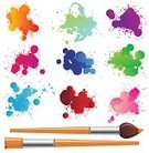 Paint,Brushing,Splashing,Paintbrush,splotches,Vector,Drop,tints,Multi Colored,Ilustration,Creativity,Equipment,Visual Art,Arts And Entertainment,Vector Backgrounds,Work Tool,Single Object,Illustrations And Vector Art
