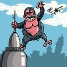 King Kong,Airplane,New York City,City,Gorilla,Empire State Building,Monster,Manhattan,Cartoon,Urban Skyline,Aggression,Famous Place,Large,Military Airplane,Conflict,Clip Art,Hanging,Cityscape,Man Made Structure,On Top Of,Office Building,Vector,Architecture,Distant,Animals And Pets,Large Build,Concepts And Ideas,USA,Flying,Tower,Vector Cartoons,Skyscraper,Sky,Royalty Free Illustration,Blue,Power,Built Structure,Illustrations And Vector Art,Building Exterior,Urban Scene