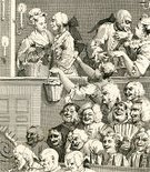 Irony,Audience,Laughing,Retro Revival,Humor,Satire,Black And White,People,Front View,Mischief,Engraved Image,Image Created 1820-1829,Caricature,Paper,Vertical,People In The Background,Fun,Old-fashioned,Number of People,Ecstatic,William Hogarth,Teasing,Eccentric,Unrecognizable Person