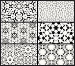 Arabic Style,Pattern,Seamless,Black And White,Backgrounds,Black Color,Horizontal,Swirl,Vector,Star Shape,Silhouette,Symmetry,Wallpaper Pattern,Spiral,Scroll Shape,Isolated,Isolated On White,Illustrations And Vector Art,Set,No People,Decoration,Vector Backgrounds,Small Group of Objects,Ornate,Design Element