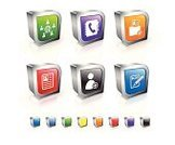 Symbol,Telephone Directory,Computer Icon,Three-dimensional Shape,Information Medium,Internet,Data,Computer Network,Blog,People,Square Shape,Set,Communication,Telephone Receiver,Green Color,Ring Binder,Design Element,Blue,Pencil,Orange Color,Social Networking,Global Communications,Plus Sign,Group Of People,Red,Reflection,Isolated On White,Document,Empty,Internet Icon,Shiny,Silver Colored,White Background,Chrome,Metal,Sparse,Metallic