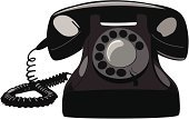 Telephone,Service,Calling,On The Phone,Communication,Telecom,Communications Technology,Communication,Vector Cartoons,Technology,Vintage Phone,Global Communications,Black Color,Concepts And Ideas,Illustrations And Vector Art