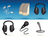 Microphone,Headset,Icon Set,Headphones,Speaker,Technology Symbols/Metaphors,Technology,Business Symbols/Metaphors,Digital Device,Hands-free Device,Electrical Equipment,Computer Icon,Business