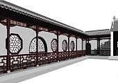 China - East Asia,Architecture,Chinese Culture,Palace,Construction Industry,Built Structure,Wall,Building Exterior,Window,Architectural Column,Art,Art Museum,Style,Flower Bed,Architecture And Buildings,Travel Backgrounds,Visual Art,Classical Style,Red,Arts And Entertainment,Architectural Detail,Part Of,Formal Garden,White Background,Travel Locations