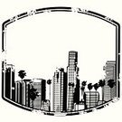 City Of Los Angeles,Los Angeles County,Cityscape,California,Downtown District,Grunge,Ilustration,Vector,Architecture,Urban Scene,Architecture And Buildings,Travel Locations,City Life,Illustrations And Vector Art