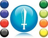 Sword,Computer Icon,Circle,Symbol,Weapon,Shiny,Design,Illustrations And Vector Art,Vector Icons,Black Color,Broad Sword,Design Element,Orange Color,Vector,Concepts And Ideas,Isolated Objects,Yellow,Red,Green Color,Purple,Blue