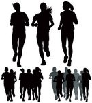 Running,Jogging,Silhouette,Marathon,Sport,Exercising,Female,Vector,Teenage Girls,Group Of People,Teenager,The Human Body,Healthy Lifestyle,Action,Ilustration,Lifestyles,Teenagers Only,Black Color,Sports Training,Recreational Pursuit,Clip Art,Slim,Large Group Of People,Cut Out,Black And White,White Background,Design Element,Painted Image,Image Created 2000s