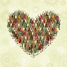 Heart Shape,Community,Love,Multi-Ethnic Group,Unity,Offspring,Group Of People,Pattern,Cheerful,Happiness,African Descent,Retro Revival,Cartoon,Old-fashioned,Ideas,Hand Raised,Design,Arms Raised,Chinese Ethnicity,Vector,Multi Colored,Indian Ethnicity,Square,Caucasian Ethnicity,Concepts And Ideas,Illustrations And Vector Art,Vector Cartoons,Christmas,Holidays And Celebrations,Feelings And Emotions