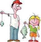 Fishing,Father,Large,Small,Men,Little Girls,Cartoon,Daughter,Vector,Fish,Vacations,Summer,Sport,Lake,Sports And Fitness,Summer,Vector Cartoons,Nature,Water,Water,Fishing Hook,Catching,Outdoors,Illustrations And Vector Art