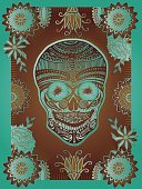 Day Of The Dead,Aztec,Voodoo,Dead Person,Human Skull,Death,Tattoo,Mask,Pattern,Animal Skull,Altar,Family Tree,Halloween,Design,Milagro,Flower,Ilustration,Religious Offering,Traditional Festival,Spirituality,Single Flower,Decoration,Holiday,Vector,Absence,Human Head,Halloween,Ghost,Holidays And Celebrations,All Souls Day,Animal Head,Illustrations And Vector Art