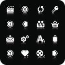 Symbol,Key,Computer Icon,Icon Set,White,Internet,Series,E-Mail,Heart Shape,Interface Icons,E-commerce,Shopping Basket,Bag,Set,Film Reel,Mail,Web Page,Film Slate,Security,Multimedia,Retail,Vector,Typescript,Black Background,Arrow Symbol,Basket,Digitally Generated Image,Sign,The Media,Design,Modern,filmreel,Shopping Bag,toolbar icons,Ilustration