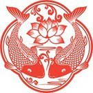 Lotus Water Lily,Lotus Root,Koi Carp,Carp,Fish,Asian Ethnicity,Flower,Single Flower,papercut,Chinese Culture,Art,Chinese New Year,East Asian Culture,Water Lily,Carp River,Frame,Water,Ornate,Paper,Cultures,paper-cut,Decoration,Ripple,Floral Pattern,Red,Wave Pattern,Swimming Animal,paper cut,Clip Art,oriental style,Craft