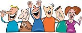 Laughing,People,Comic Book,Cartoon,Friendship,Humor,Happiness,Cheerful,Human Face,Women,Men,Group Of People,Ilustration,Toothy Smile,Illustrations And Vector Art,Vector Cartoons,Concepts And Ideas,People,Fun,Vector,Smiling,Computer Graphic,Drawing - Art Product